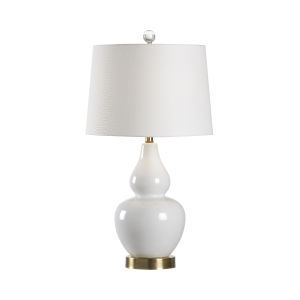 White One-Light 6-Inch Ellis Lamp