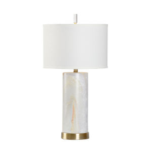 Off White One-Light 7-Inch Scranton Lamp
