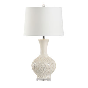 Off White One-Light 6-Inch Sea Grass Lamp