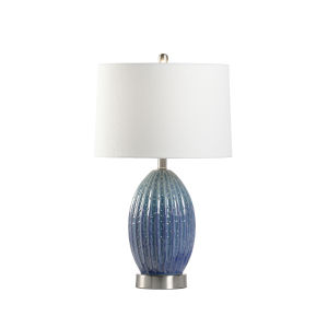 Off White and Blue One-Light 6-Inch Maui Lamp