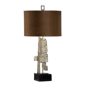 Bronze and Antique Silver One-Light 6-Inch Kahn Lamp