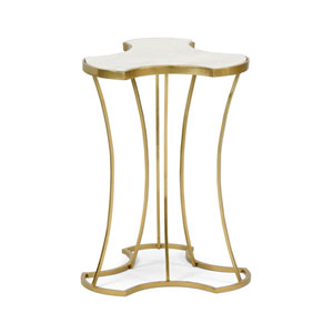 Gold and White 15-Inch Triptych Table