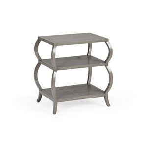 Gray 24-Inch Kate Tiered Table
