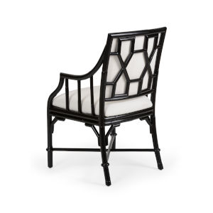 Black and White 22-Inch Ella Armchair
