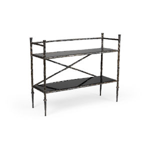 Black and Bronze 45-Inch Alberto Bar Stand