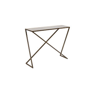 White 40-Inch Trapezoid Console Table
