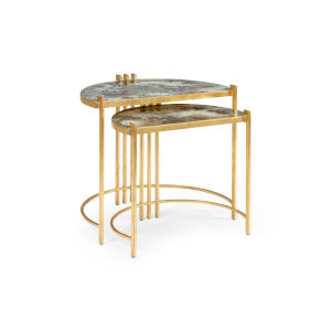 Gold 28-Inch Rockefeller Nested Tables, Set of 2