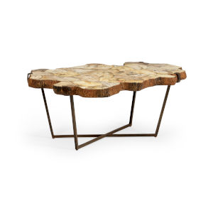 Wood 43-Inch Fossil Cocktail Table