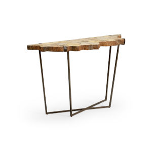 Wood 55-Inch Fossil Console Table