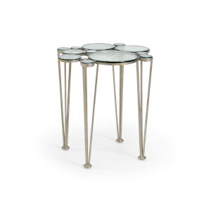 Silver 23-Inch Bubblicious Table