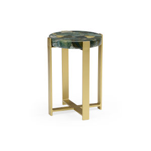 Gold 15-Inch Large Jasper Accent Table