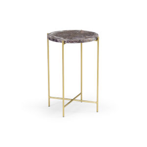 Gold 15-Inch Salina Accent Table