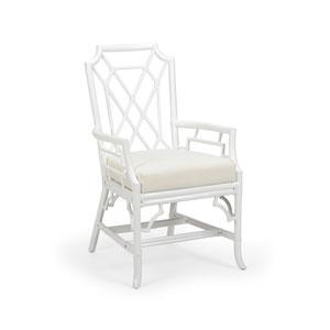 White 21-Inch Wild Palm Arm Chair