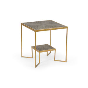 Gold 19-Inch Tara Tiered Table