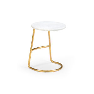 White and Gold 14-Inch Culebra Table