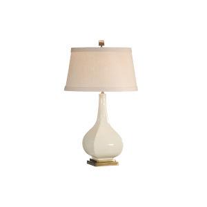 Beige One-Light 12-Inch Dawson Lamp