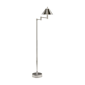Nickel One-Light 14-Inch Ashbourne Floor Lamp