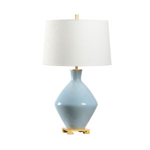 Blue and Off White One-Light 6-Inch Skylar Lamp