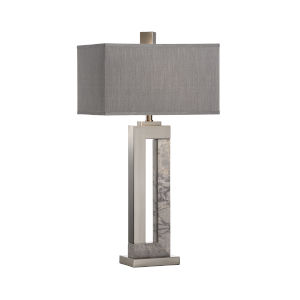 Dark Gray One-Light 12-Inch Jaxon Lamp