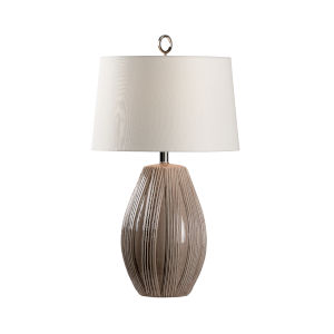Off White and Gray One-Light 6-Inch Borghese Lamp