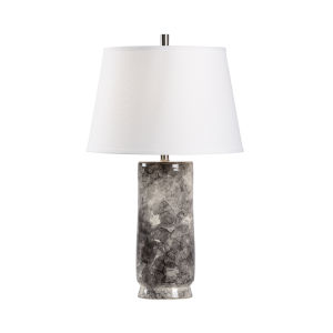 White and Gray One-Light 6-Inch Bolle Lamp