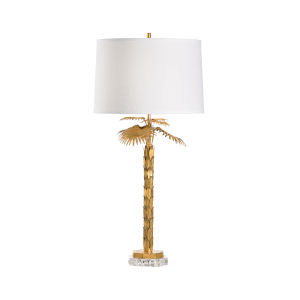 Gold One-Light 6-Inch Palm Island Lamp