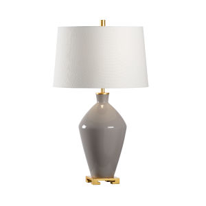 Off White and Gray One-Light 9-Inch Lona Lamp