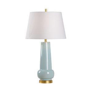 Off White and Blue One-Light 6-Inch Sigrid Lamp