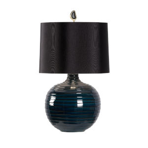 Black One-Light 16-Inch Dark Knight Lamp