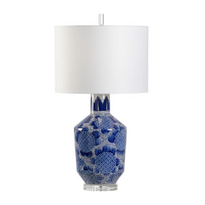 White and Blue One-Light 6-Inch Nicolette Lamp