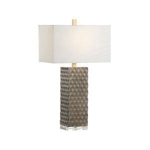 Off White and Gray One-Light 6-Inch Keegan Lamp