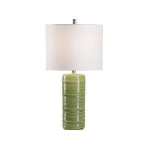 Off White and Green One-Light 5-Inch Collodi Lamp