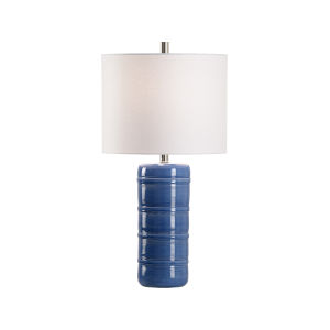 Off White and Blue One-Light 5-Inch Collodi Lamp