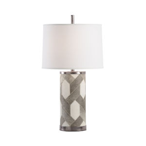 Off White One-Light 8-Inch Bar Twist Ranch Lamp