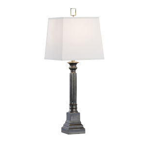 Off White and Black One-Light 5-Inch Carolina Column Lamp
