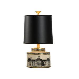 Black One-Light 8-Inch Architectural Stroll Lamp