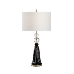 Off White and Black One-Light 6-Inch Tess Lamp