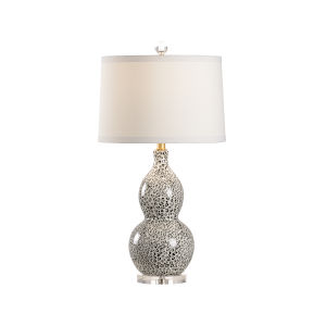 Gray and White One-Light Table Lamp