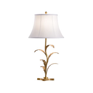 Beverly Tarnished Brass and White One-Light Glen Lamp