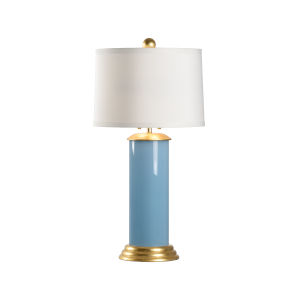 Savannah Turquoise, Gold and White Two-Light Table Lamp