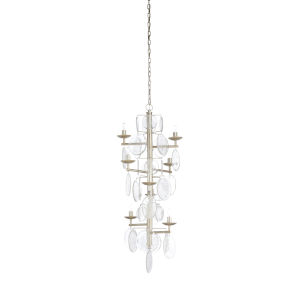 Silver Eight-Light 28-Inch Liza Chandelier