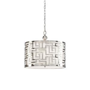 Nickel Three-Light 20-Inch Daphne Pendant