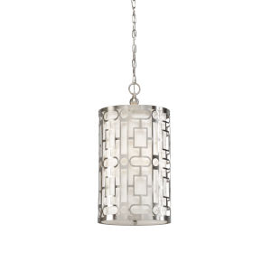 Nickel Three-Light 12-Inch Coco Pendant