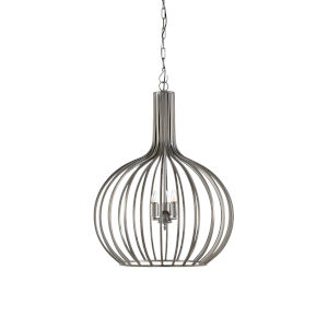 Silver Three-Light 26-Inch Abella Pendant