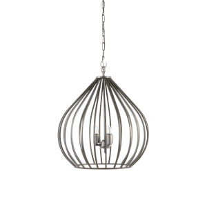 Silver Three-Light 24-Inch Camille Pendant