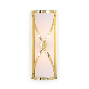 Brass Two-Light 6-Inch Criss Cross Sconce