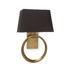Black and Gold One-Light 12-Inch Ring Sconce