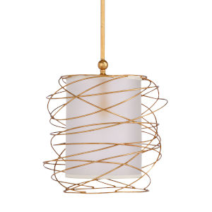 Gold One-Light 18-Inch Cosmo Pendant