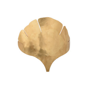 Gold One-Light 15-Inch Ginkgo Sconce