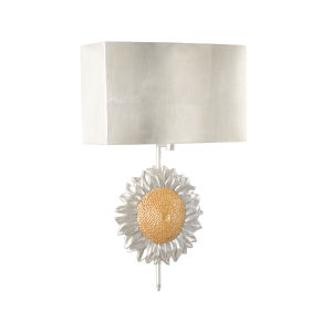 Gold One-Light 14-Inch Sunflower Sconce